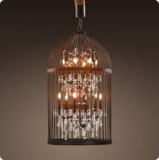 How To Make A Birdcage Chandelier Go Wireless And Use A String Of Led Lights To Illuminate Your