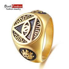 cool rings design images Stainless steel men rings triangle god eyes wedding rings for jpg