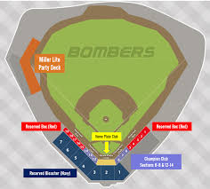 Miller Park Seating Map Seating Chart Battle Creek Bombers Battle Creek Bombers