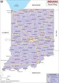 Road Map Of Michigan Indiana Road Map Maps Of The World Pinterest Indiana State