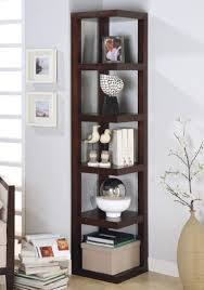 Espresso Corner Bookcase Interior Wood Espresso Corner Bookcase Corner Book