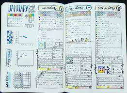 Bullet Journal Tips And Tricks by Weekly U0026 Daily Spread January 2017 Week 2 Bullet Journal Blue