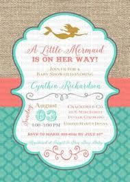 mermaid baby shower invitations mermaid baby shower