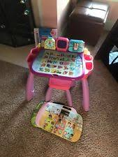 vtech table touch and learn vtech touch and learn activity desk deluxe pink learning electronic