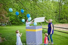 balloons in a box gender reveal 25 gender reveal party ideas c r a f t