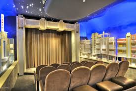 eclectic home theater with home theater seating u0026 window seat in