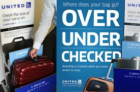 united airlines domestic baggage rumor united will charge to gate check excess carry on bags
