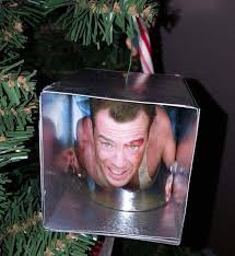 bruce willis in air vent die ornament