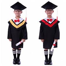 kindergarten cap and gown kids primary school graduation gown with hat performance clothing
