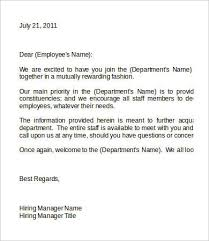new employee welcome letter free u0026 premium templates
