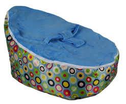 bayb brand baby bean bag blue circles filled u0026 ready to use