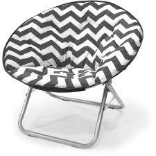 Walmart Fold Up Chairs Mainstays Plush Chevron Saucer Chair Multiple Colors Walmart Com