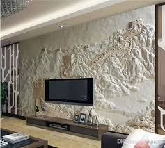 great wall painting sand carving factory direct chinese hotel art