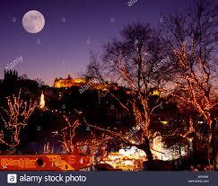 uk scotland city of edinburgh christmas lights at princes street