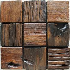 square wood wall big square wood mosaic rustic wood backsplash tile block ancient