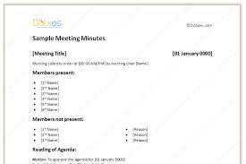 sample meeting minutes light format dotxes