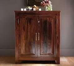Folding Home Bar Cabinet Home Bar U0026 Bar Furniture Pottery Barn