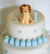 lion cake topper lion safari jungle animal birthday or christening cake topper boy