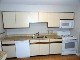 Single Kitchen Cabinets by Kitchen Simple Cheap Creamy Kitchen Cabinet Style With Brown