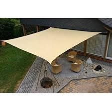Triangular Patio Awnings Amazon Com Sunshade 16 Ft Triangle Sun Sail Shade Cover Garden