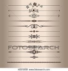 Decorative Line Clip Art Clip Art Of Decorative Lines K8375939 Search Clipart