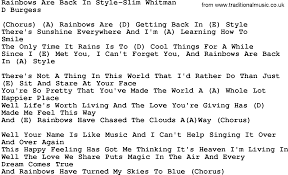 country music rainbows are back in style slim whitman lyrics and