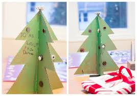 cardboard christmas tree a christmas tree craft with cardboard and buttons