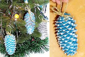 pine cone ornaments ideas crafts