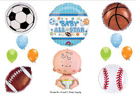 amazon com it u0027s a boy baby shower all star sports balloons