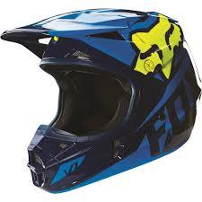 vega motocross helmets fox racing 2016 v1 race helmet blue yellow available at motocross