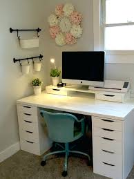 desk trendy ikea minimalist two person desk contemporary design