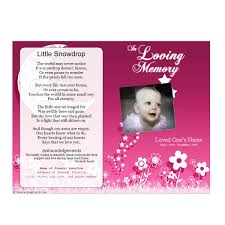 baby funeral program floral memorial program funeral phlets