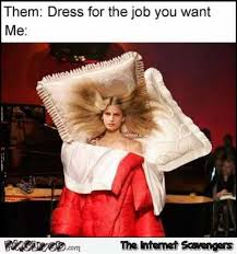 Dress Meme - dress for the job you want funny bed meme pmslweb