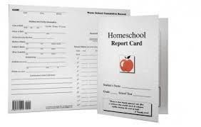 homeschool middle school report card template homeschool report card elementary middle school 710122