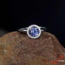 light blue sapphire engagement rings light blue sapphire halo engagement ring 1ct 6mm