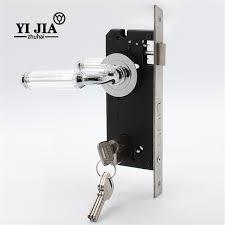 Door Handles For Bedrooms Lever Door Handles With Locks For Bedrooms Yijia Crystal