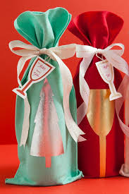 wine bottle gift wrap how to make a no sew felt wine bottle gift bag