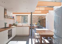Kitchens Extensions Designs by Denizen Works Creates Light Filled Kitchen For London Extension