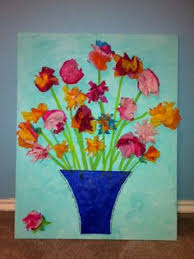Making Flowers Out Of Tissue Paper For Kids - dltk kids crafts spring tree use foam flower shapes for the