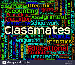 classmates search classmates word meaning schoolmate text and colleague stock photo
