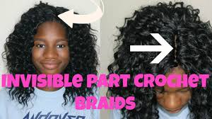 pictures of crochet hair hairstyles invisible part crochet braids with curly hair tutorial back to
