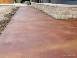 Wood Grain Stamped Concrete by Cozy With Concrete Outdoor Stained Concrete