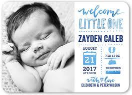 birth announcements hello one 5x7 boy birth announcement card shutterfly