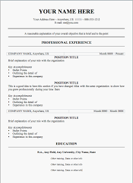 free resume template plain design free sle resume templates cv resume