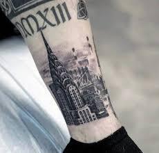 60 new york skyline tattoo designs for men big apple ink ideas