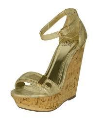 lustacious women u0027s open toe platform cork wedge sandal with ankle