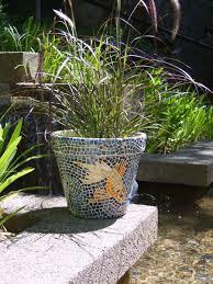 accessories wonderful koi fish mosaic plant pots as pond