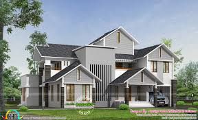 2800 square foot house plans sloping roof modern home by design code architects kerala home