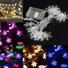 Hanging Christmas Lights by 2 5m 5m Led Snowflakes String Christmas Light Xmas Tree Ornament