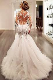 lace wedding dress with sleeves sleeve lace mermaid wedding dresses see through